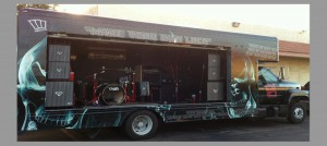 For-sale U-Haul Truck converted to a mobile stage