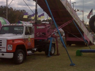 For-sale U-Haul Truck converted to a carnival slide
