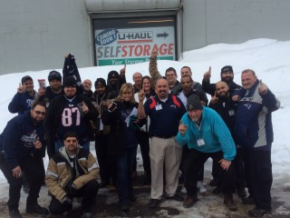 U-Haul Company of Boston Celebrates Patriots' Win with Wing Lunch