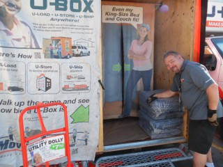 U-Haul locations in Houston are extending 30 days free self-storage and U-Box (pictured here) to people affected by the recent flooding.