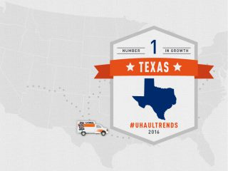 Texas is the U-Haul No. 1 Growth State of 2016