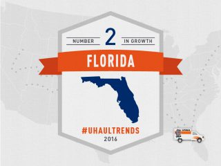 Florida is the U-Haul No. 2 Growth State for 2016