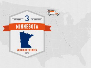 Minnesota is U-Haul Growth State No. 3