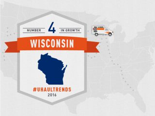 Wisconsin is the U-Haul No. 4 Growth State of 2016