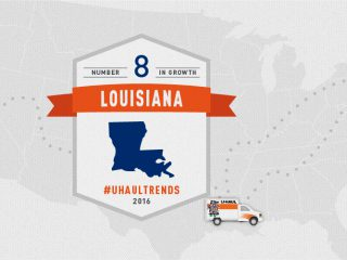 Louisiana growth state U-Haul migration trends
