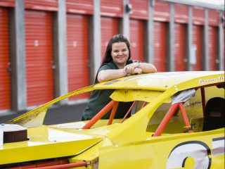 Monica Howard self-storage and race car