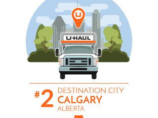 Calgary is the No. 2 U-Haul Canadian Destination City for 2016