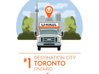 Toronto is the No. 1 U-Haul Canadian Destination City for 2016