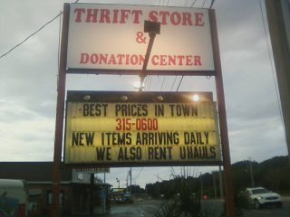 411 Thrift Store and U-Haul in Leesburg, Fla.