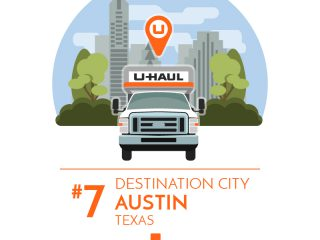 Austin is the No. 7 U-Haul Destination City for 2017