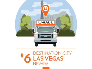 Las Vegas is the No. 6 U-Haul Destination City for 2017