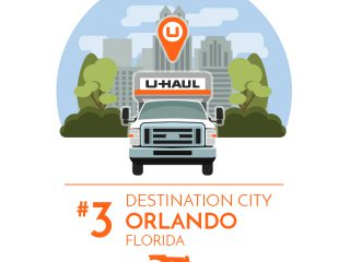 Orlando is the No. 3 U-Haul Destination City for 2017