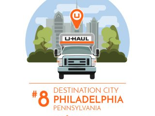 Philadelphia is the No. 8 U-Haul Destination City for 2017