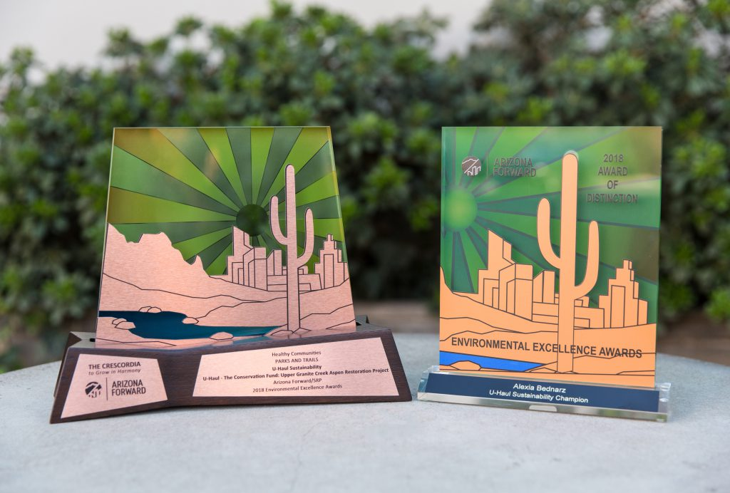 U-Haul was honored for its local environmental efforts with the coveted Crescordia award at the 38th annual Arizona Forward Environmental Excellence Awards on Oct. 6 at Westin Keirland Resort & Spa in Scottsdale.