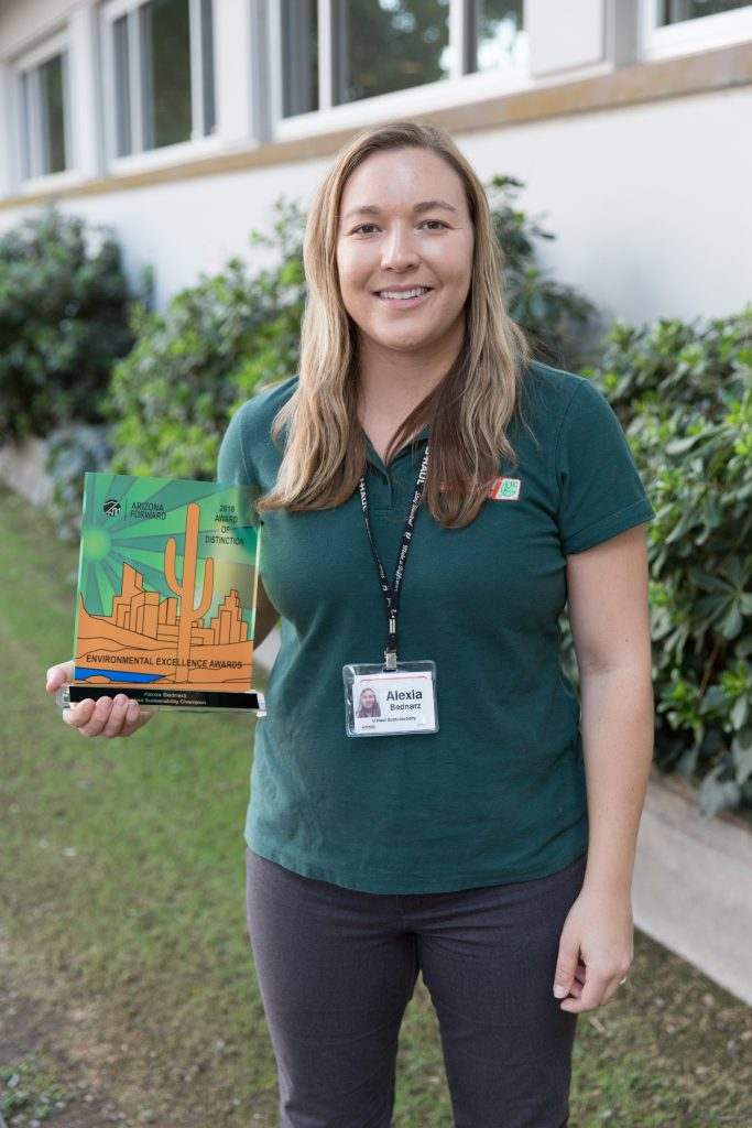 "Alexia Bednarz, U-Haul Corporate Sustainability community advocate, was honored as one of four ""Sustainability Champion"" finalists. Former Phoenix Mayor Greg Stanton won in that category."