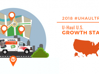 U-Haul Names Top 50 Growth States for 2018