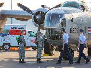 PB4Y-2 Privateer, a WWII Bomber, at the Veterans Day Remembrance Breakfast hosted by U-Haul and Phoenix Sister Cities